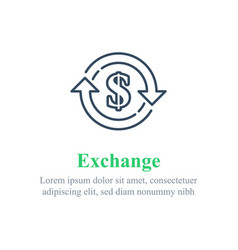Currency exchange financial services dollar sign vector