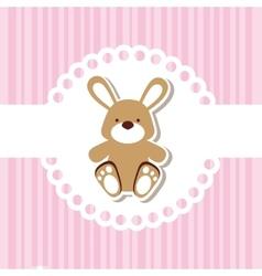 Cute baby toy vector image