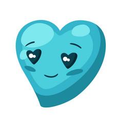 Cute heart celebrating valentine vector