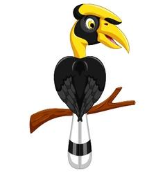 Cute horn bill cartoon vector