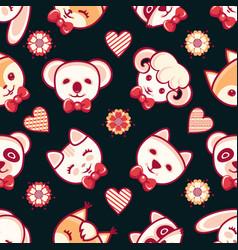 Cute pets seamless pattern vector
