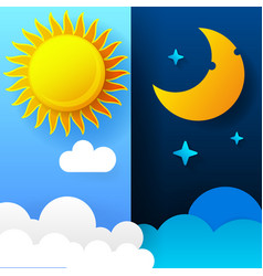 Day and night day night concept vector
