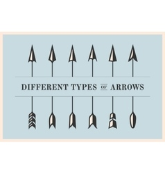 design elements different types arrows in retro vector image