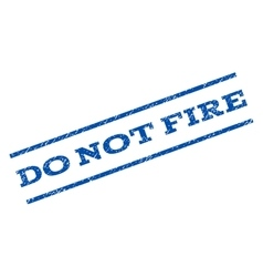 Do not fire watermark stamp vector