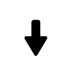 down arrow icon black on white background vector image