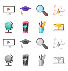 education and learning logo vector image