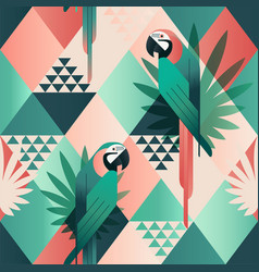exotic beach trendy seamless pattern patchwork vector image vector image