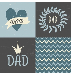 Fathers day greeting cards seamless pattern set vector