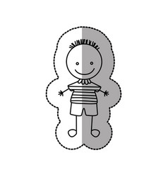 figure funny boy icon vector image