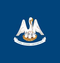 Flag usa state louisiana vector