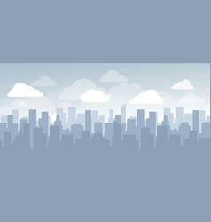flat cityscape simple design vector image