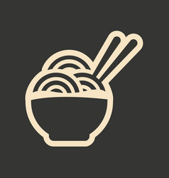 Flat in black and white mobile application noodles vector