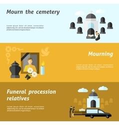 Funeral Banner Set vector image