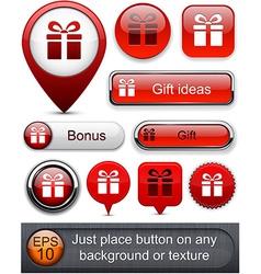 Gift high-detailed modern buttons vector
