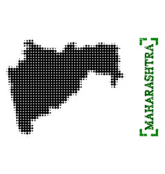 Halftone map of maharashtra state and grunge vector