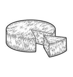 Head cheese sliced sketch scratch board vector