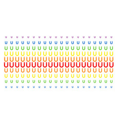Horseshoe magnet shape halftone spectral grid vector