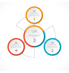 Infographic circle with 3 options vector