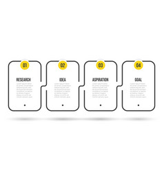 infographic label design with 4 options vector image