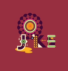 JOKE art poster vector image