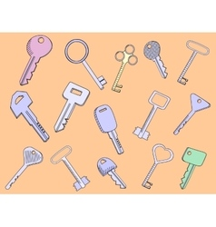 Keys set vector image