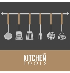Kitchen tools set vector image