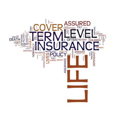 level term life insurance text background word vector image