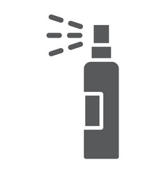 Lotion spray glyph icon hairdressing and sprayer vector