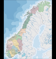 map of norway vector image