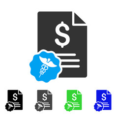 Medical invoice flat icon vector
