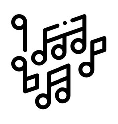 melody music mono and treble notes icon vector image