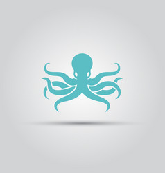 octopus isolated silhouette icon vector image