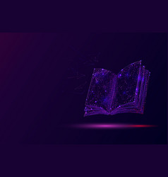 open book low poly vector image