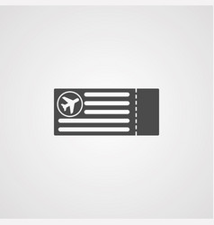 plane ticket icon sign symbol vector image