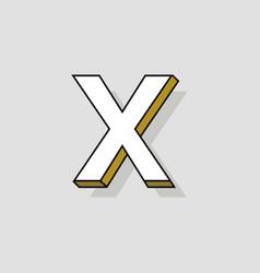 pop art logo letter x vector image