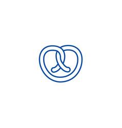 pretzel line icon concept pretzel flat vector image