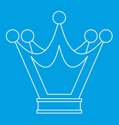 Princess crown icon outline style vector