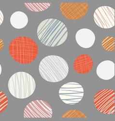 red orange cream hand drawn circles seamless vector image