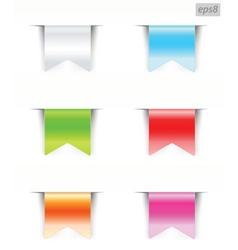 ribbons blank vector image