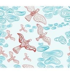 seamless sky and bird vector image
