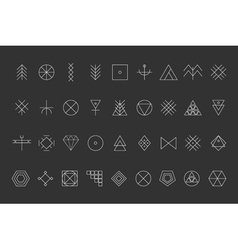 Set of geometric hipster shapes8 vector