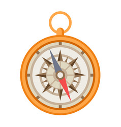 ship navigation compass nautical vector image