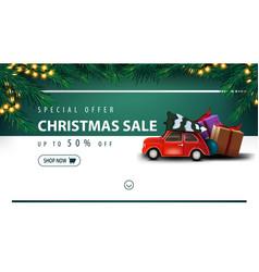 special offer christmas sale up to 50 off white vector image