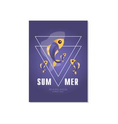 Summer banner template original design trendy vector