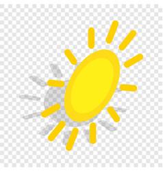Sun isometric icon vector
