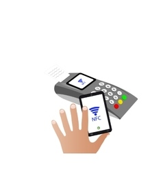 The nfc technologythe concept of mobile payments vector
