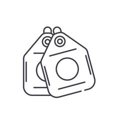 vacuum cleaner bags line icon concept vacuum vector image