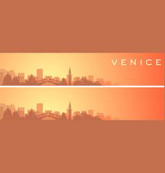 Venice beautiful skyline scenery banner vector