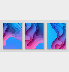 vertical a4 flyers with 3d abstract background vector image
