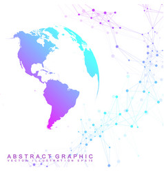 Virtual graphic background with world globes vector